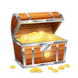 Chest With Coins Stock Image