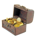 Chest of coins Stock Image