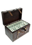 Chest with dollar Royalty Free Stock Photo