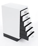 Chest of drawers from advanced drawers Royalty Free Stock Photography