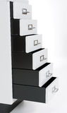 Chest of drawers from advanced drawers Royalty Free Stock Photo