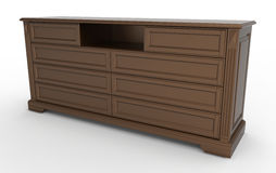 Chest of drawers for clothes Royalty Free Stock Photos
