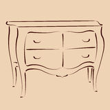 Chest of drawers. Stock Photography