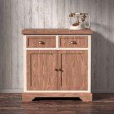 Chest of drawers and vintage phone. On the background of wooden wall, 3D render royalty free stock images
