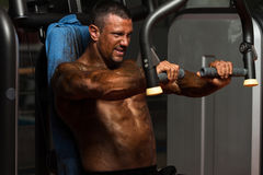 Chest Exercises On A Machine Stock Images