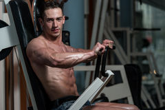 Chest Exercises On A Machine Stock Photography