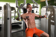 Chest Exercises On A Machine Royalty Free Stock Photos