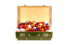 A chest full of Christmas evening balls Royalty Free Stock Image