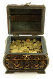 Chest full of coins Stock Photos
