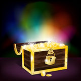 Chest full of gold coins Stock Images