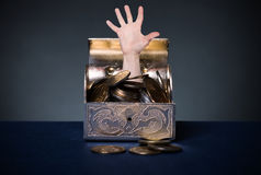 Chest full of money Royalty Free Stock Photo
