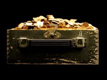 Chest full of money royalty free stock photos