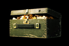 Chest full of money Royalty Free Stock Photography