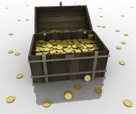 Chest of gold Royalty Free Stock Images