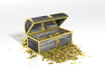 Chest with gold coins Royalty Free Stock Image
