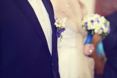 Chest of groom and bride Royalty Free Stock Image