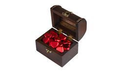 Chest of heart shape chocolate Royalty Free Stock Images
