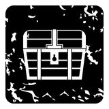 Chest icon, grunge style Royalty Free Stock Photos