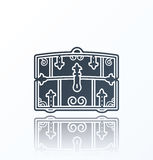Chest Icon on white background. With shadow Stock Photos