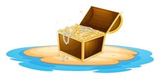 Chest. Illustration of a treasure chest vector illustration