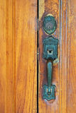 Chest Latch on wood door Stock Images