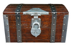 Chest with lock Stock Photography