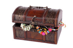Chest with maiden costume jewellery Stock Photos