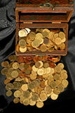 Chest and money Royalty Free Stock Image