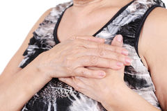 Chest pain Royalty Free Stock Photo