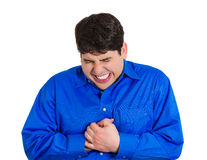 Chest pain Royalty Free Stock Photography