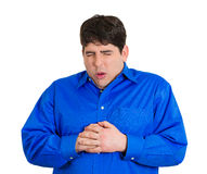 Chest pain Stock Image