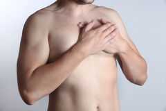 Chest pain Royalty Free Stock Photos