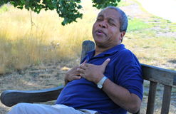Chest pains. Royalty Free Stock Image