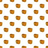 Chest pattern, cartoon style. Chest pattern. Cartoon illustration of chest vector pattern for web Royalty Free Stock Photo