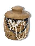 Chest with pearls Royalty Free Stock Images