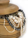 Chest with pearls Stock Photography
