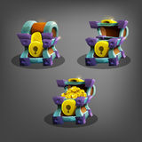 Chest set for game interface. Royalty Free Stock Photos