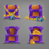 Chest set. Vector illustration. Royalty Free Stock Photography