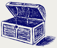 Chest sketch Royalty Free Stock Photo