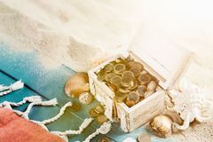 Chest treasure Stock Images