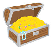 Chest of treasures vector illustration