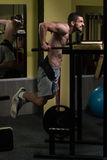 Chest And Triceps Exercise on Parallel Bars Royalty Free Stock Photo
