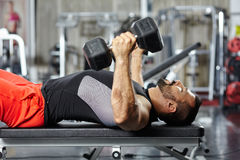 Chest and triceps workout Royalty Free Stock Images