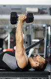 Chest and triceps workout Stock Photos