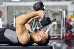 Chest and triceps workout Stock Photography