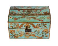 Chest or trunk hand painted decorative antique old original Euro Stock Photography