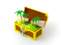 Chest With Palms Royalty Free Stock Images
