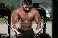Chest Workout Cable Crossover Royalty Free Stock Photo