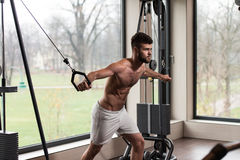 Chest Workout Cable Crossover Royalty Free Stock Image