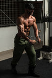 Chest Workout Cable Crossover Royalty Free Stock Photography